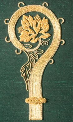 My finished goldwork piece, the Bishop's Crosier, is now in London at
