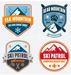 Ski badges vector - by mikemcd on VectorStock®
