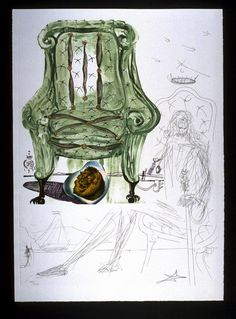 Fauteuil à sespirer pneumatique Artist(s) Salvador Dali Artist Nationality Spanish (culture or style) Medium & Support drypoint etching, lithograph, screenprint and collage on paper Object Creation Date 1975