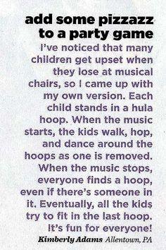 """""""Musical"""" hula hoop game"""