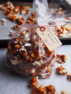 G Bakes!: MAPLE TOFFEE with POPCORN & SALTED PEANUTS