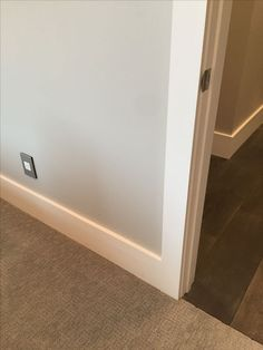 Modern, flat casing: door trim and baseboards | I guess we\'re just ...