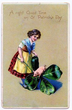 Free Vintage Clip Art - St. Patrick's Day Card - The Graphics Fairy