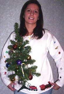 The Chicago Sun-Times ran an ugly Christmas sweater contest. Here's the winner. Althought it's not handknit, that is one truly amazing swea...