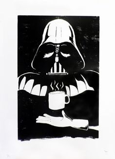 Brew up Darth (Silkscreen Signed Limited Edition of 50) by Tom Camp