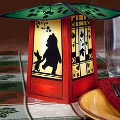 """This paper craft is a Winnie the Pooh (Pooh Bear) Lantern, created by Disney Family. """"This adorable Winnie the Pooh paper lantern features the cuddly bear Deco Disney, Walt Disney, Disney Diy, Disney Family, Disney Crafts, Disney Stuff, Winnie The Pooh Friends, Disney Winnie The Pooh, Lanterns Decor"""