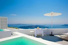 The view from your private balcony, Santorini.
