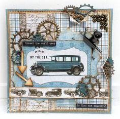 Jenine's Card Ideas: Sizzix - Cottage by the Sea Masculine Birthday Cards, Birthday Cards For Men, Handmade Birthday Cards, Man Birthday, Masculine Cards, Greeting Cards Handmade, Steampunk Cards, Card Making Templates, Cottages By The Sea