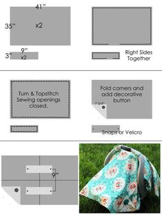 Car Seat Canopy Sewing Project Ideas Video Tutorial These beautiful car seat canopy sewing project ideas show you how to sew your baby a cover to keep them cozy! Watch the video tutorial now. Baby Sewing Projects, Sewing Projects For Beginners, Sewing For Kids, Sewing Hacks, Sewing Tutorials, Sewing Tips, Tutorial Sewing, Car Seat Canopy Pattern, Car Seat Cover Pattern