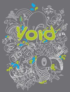 tshirt designed by Kendrick Kidd for local magazine Void