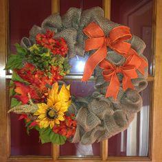 My very own fall burlap wreath... JG