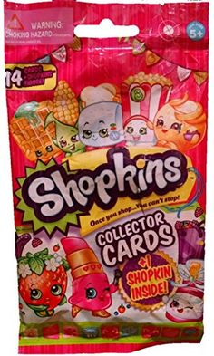 Shopkins Blind Bag..14 Collectors Cards with BONUS Season 2 Shopkin in a Bag Character