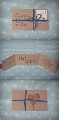 Save the date rustic save the date recycling by decoriswedding no envelope save the dates wedding stationary solutioingenieria Gallery