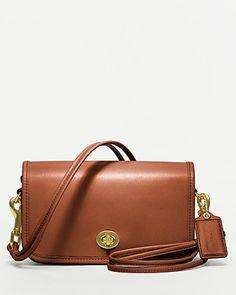 COACH Classic Leather Shoulder Purse | Bloomingdale's