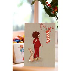 "Belle & Boo ""Christmas Stocking"" Card"