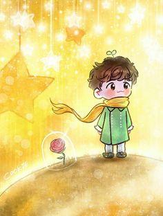 Baekhyun <credits to owner> Baekhyun Fanart, Chanbaek Fanart, Kpop Fanart, Chanyeol, Kpop Exo, So Cute Images, Exo Cartoon, Exo Anime, Exo Fan Art