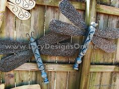 Table Leg Dragonflies with Ceiling Fan Blade Wings