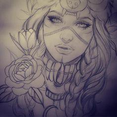 deviled eggs no mayo Tattoo Sketches, Tattoo Drawings, Body Art Tattoos, Art Sketches, Art Drawings, Sleeve Tattoos, Indian Girl Tattoos, Tattoo Girls, Ink Addiction