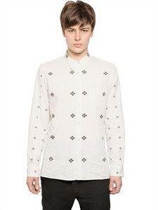 Ann Demeulemeester - Printed Cotton Shirt | FashionJug.com