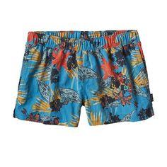 "W's Barely Baggies™ Shorts - 2 1/2"", Kelp Garden: Radar Blue (KPRD)"