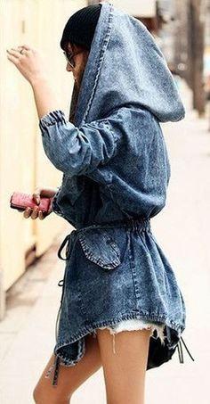 Drawstring Denim Jacket | LoveOfLabels http://loveoflabelsboutique.myshopify.com/collections/jackets-blazers/products/drawstring-denim-jacket-1