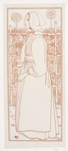 Richard Roland Holst | Huizer meisje, 1895, Richard Roland Holst, 1878 - 1938 |