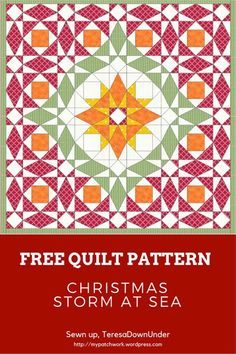 Christmas storm at sea quilt - free pattern download