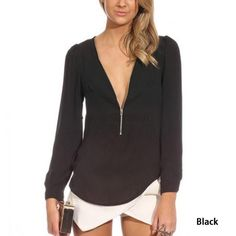 2017 di Alta Qualità Delle Donne Bluse e Camicie profondo scollo a v abiti di Moda Solido chiffon Camicia Camicette sexy Camicie femminili