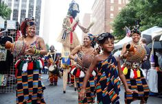 A photo from the African-American Culture Festival that is taking place this weekend in Raleigh, NC!