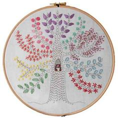 Designer: Bearpaw Embroidery Patterns - Jo Avery ~ Sampler Tree Embroidery Pattern DOWNLOAD ~
