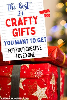 Check out these 21 best gifts for crafty people for Christmas or any special days. Craft supplies, craft room, and storage ideas. You'll find something for all your crafty friends, mom, and loved ones. This handy gift guide is filled with awesome gifts that will make a great gift for your crafty people. #crafting #crafts #craftsupplies Awesome Gifts, Cute Gifts, Unique Gifts, Best Gifts, Diy Home Decor Projects, Craft Projects, Sewing Projects, Projects To Try, Craft Storage Cart