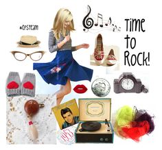 """""""Time to Rock!"""" by seasidecollectibles ❤ liked on Polyvore featuring Columbia, Lime Crime, Jennifer Ouellette, Benzara, vintage and etsyevolution"""