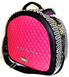 Betsey Johnson Fushia Black White Weekender Travel Crossbody Train Case Bag NWT  #BetseyJohnson #ShoulderBagCrossBodyTrainCase