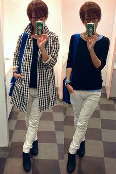 今日のお洋服は全部UNIQLO!!  Coat/UNIQLO Knit/UNIQLO Bottoms/UNIQLO Bag/CLASKA Shoes/CODENOIR  Full body UNIQLO!!