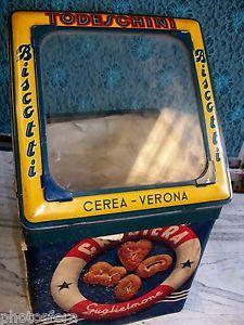 Todeschini Biscotti Cerea Verona, antica scatola latta Crociera Guglielmone   eBay