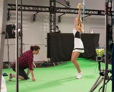 Maria Sharapova serves inside her new virtual reality game. Fun insider video in the linked post. Maria Sharapova, Tennis Videos, Virtual Reality Games, Ballet Skirt, Fun, Angels, Tutu, Ballet Tutu, Hilarious