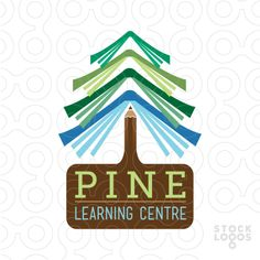 Pine Tree Book Logo for sale: Clean and unique logo design that features stacks of colorful open books, designed to create a pine tree with [. Kindergarten Logo, Christmas Tree Logo, Identity Design, Logo Design, Freedom Logo, Forest Logo, Library Logo, Book Tree, Book Logo