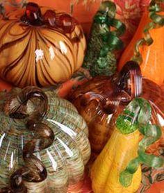 glass pumpkins & gourds
