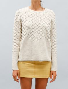 Dream sweater that I cannot own- MM6 Scalloped Knit Top - Milk