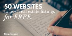 In this blog post, I'm going to show you 50 different websites where you can create real estate ads and post your property listings for FREE.