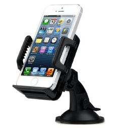 "TaoTronics® Universal Windshield & Dashboard Car Mount Cradle Holder for iPhone 6 5S 5C 5 4S 4 3GS, Samsung Galaxy Note 3 Note 2 S4 S3 Mega, Nokia Lumia 1020 925 928 920, HTC Desire 500 DROID DNA One 8X 8S, Google Nexus 4, BlackBerry Q10 Q5 Z30 Z10, LG Optimus G, Motorola Moto X DROID MAXX DROID ULTRA, Sony Xperia Z1, Compact Size GPS - 1.97""-3.94"" Extendable - TT-SH02 - Black - http://www.rekomande.com/taotronics-universal-windshield-dashboard-car-mount-cradle-holder-for-ip"