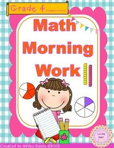 This spiral review is designed to be used as morning work. It covers common core standards for both grades 3 and 4. It is meant to be used in fourth grade but the first few weeks include a review of third grade standards as well as new fourth grade standards.