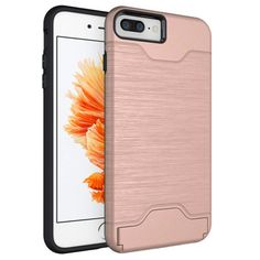 Hard Armor Case Cover for iPhone 7 plus w/Stand Card Holder Mobile Phone Accessories