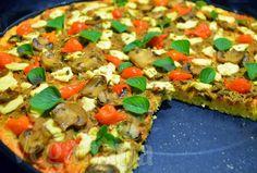 Pizza de Tofu e Cogumelos sem Glúten ~ Veganana