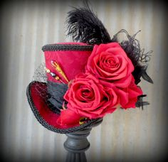 The Queen of Hearts Red Queen Mini Top Hat Moulin by ChikiBird, $79.00