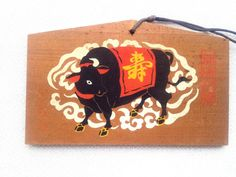 Japanese Shrine Wood Plaque Shimogamo Shrine  by VintageFromJapan, $12.00