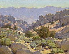 Buttermilk Boulder Country by Jean LeGassick Oil ~ 11 x 14