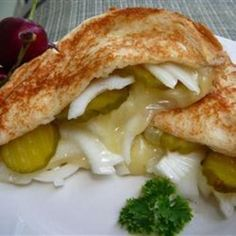 Grilled Cheese, Pickle and Vidalia Onion Sandwich