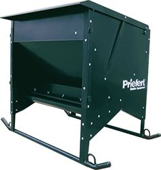 Skids on the bottom of the feeder allow for easy movement or relocation of the feeder when empty.