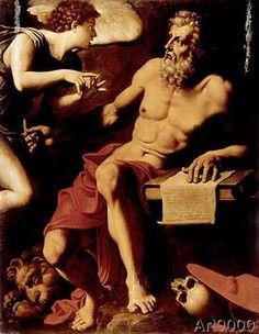 Pellegrino Tibaldi - St. Jerome with an angel